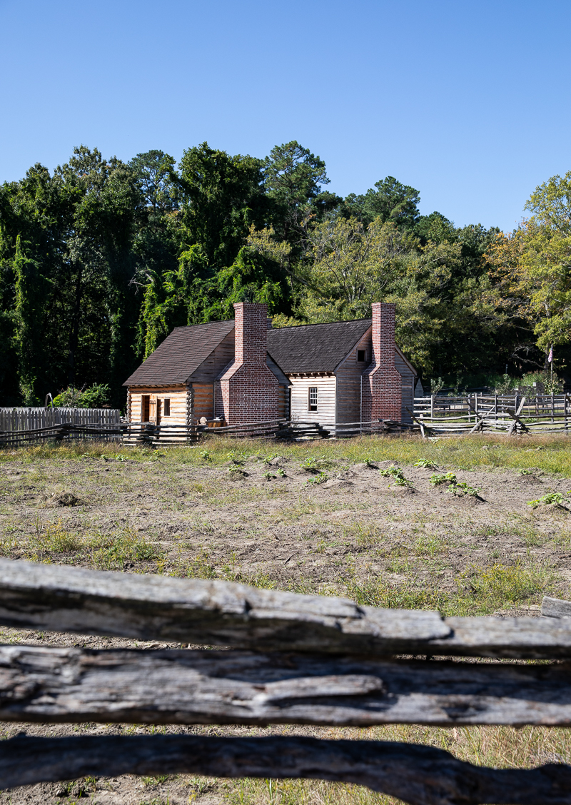 Cabins at American Revolution Museum