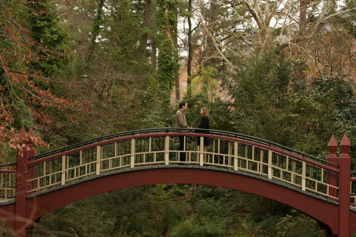 Weddings in Williamsburg - Crim Dell Bridge at the College of William and Mary