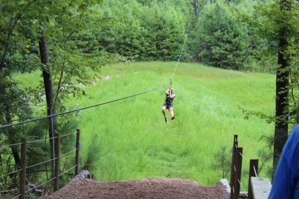 Zipling at Go Ape