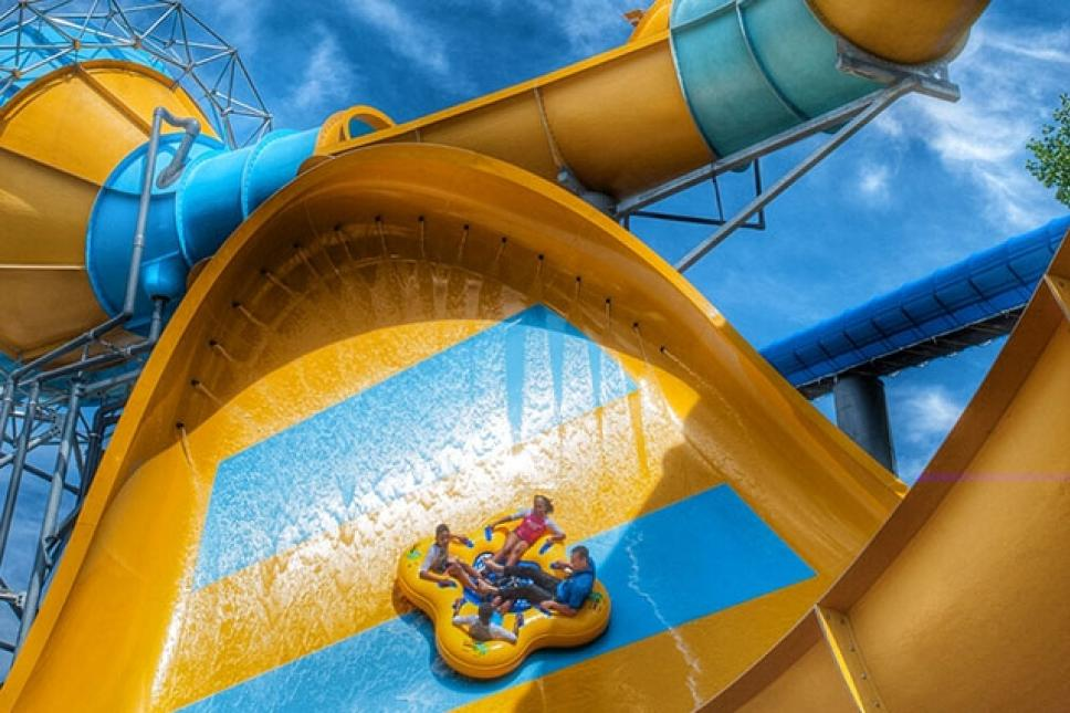 True to its name, this mega-slide promises to deliver an action-packed adventure with a unique combination of high-adrenaline elements.