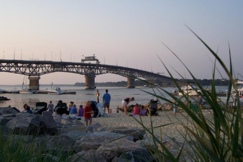 Coleman Bridge at Yorktown Beach