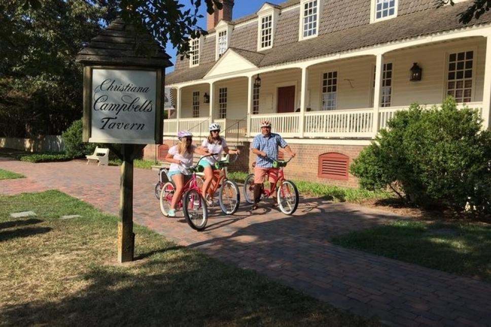 Biking to Christiana Campbell's Tavern