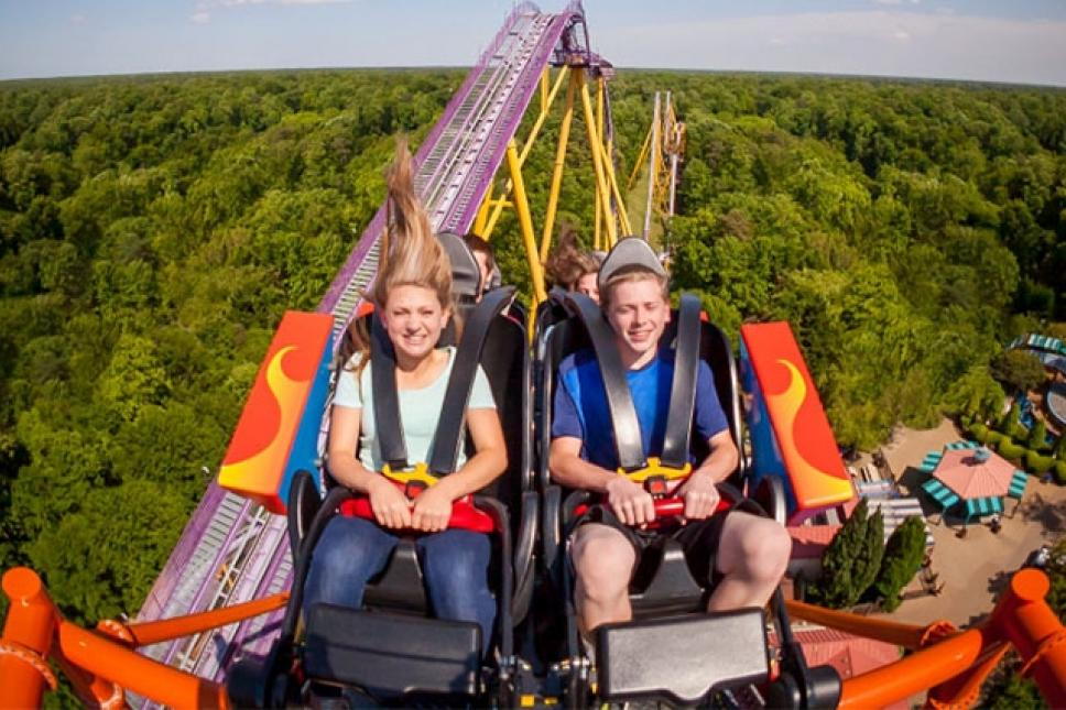 Guests daring enough to take on Tempesto will race into unbelievably tight turns at 63 miles per hour and defy gravity as they roll through a complete inversion 154 feet in the air.