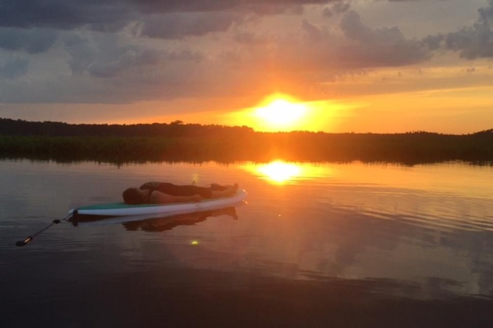 Savasana at sunset!!