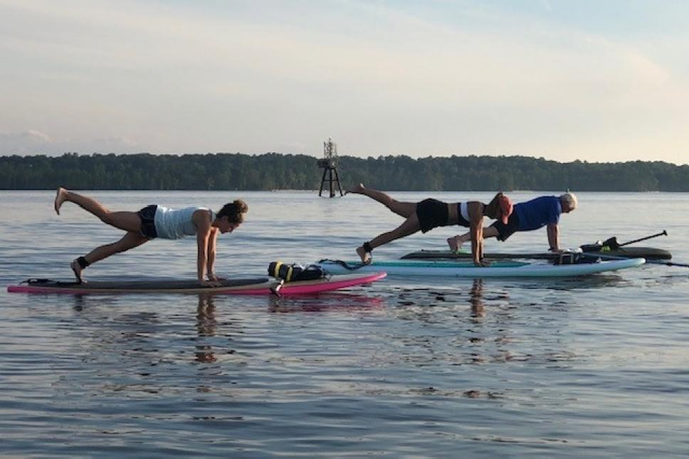 Intro to Paddle Fit at Jamestown Beach