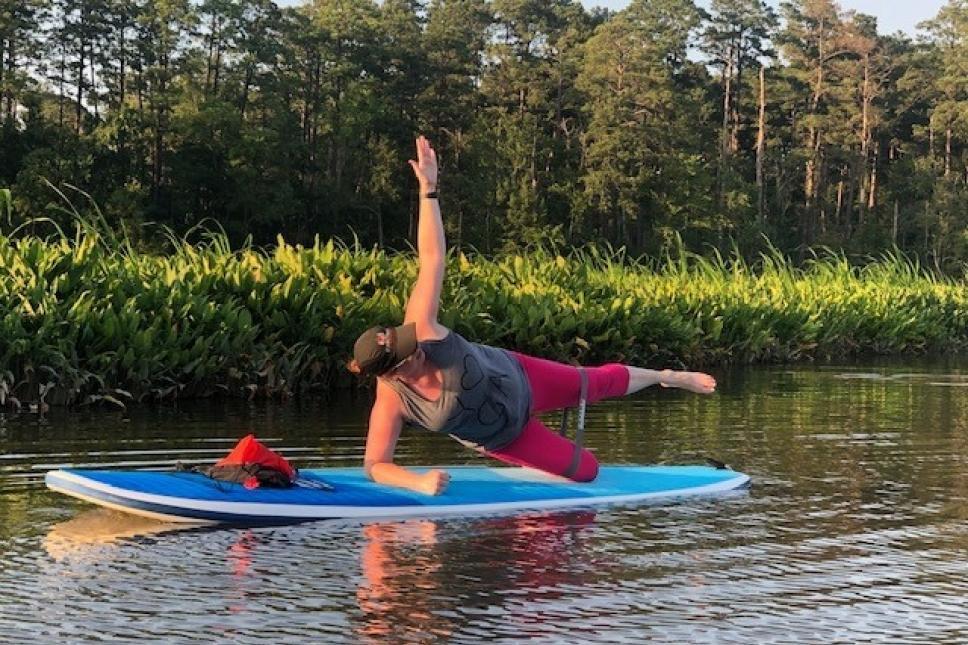 SUP Strength Yoga w/ Bands on Gordon's Creek
