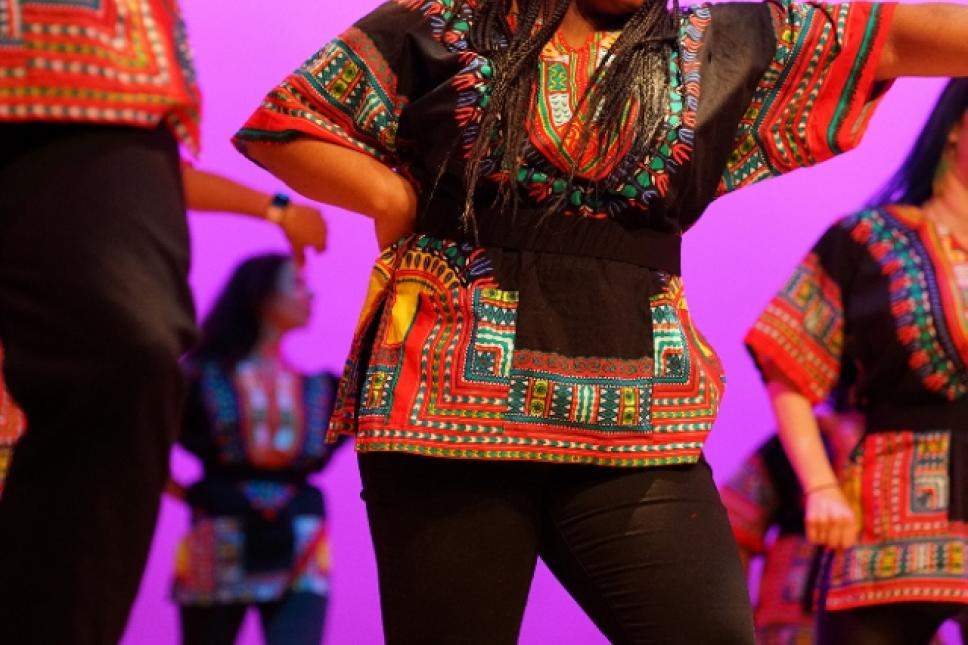 Claves Unidos of Richmond, Va., will interpret the African Diaspora through dance, African drums and original interpretive choreography. Image by Mike Keeling.