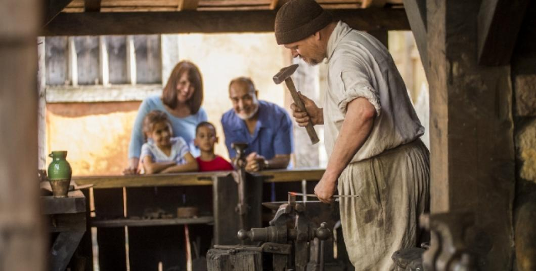 Discover the forging of America in Jamestown Settlement's re-created fort.