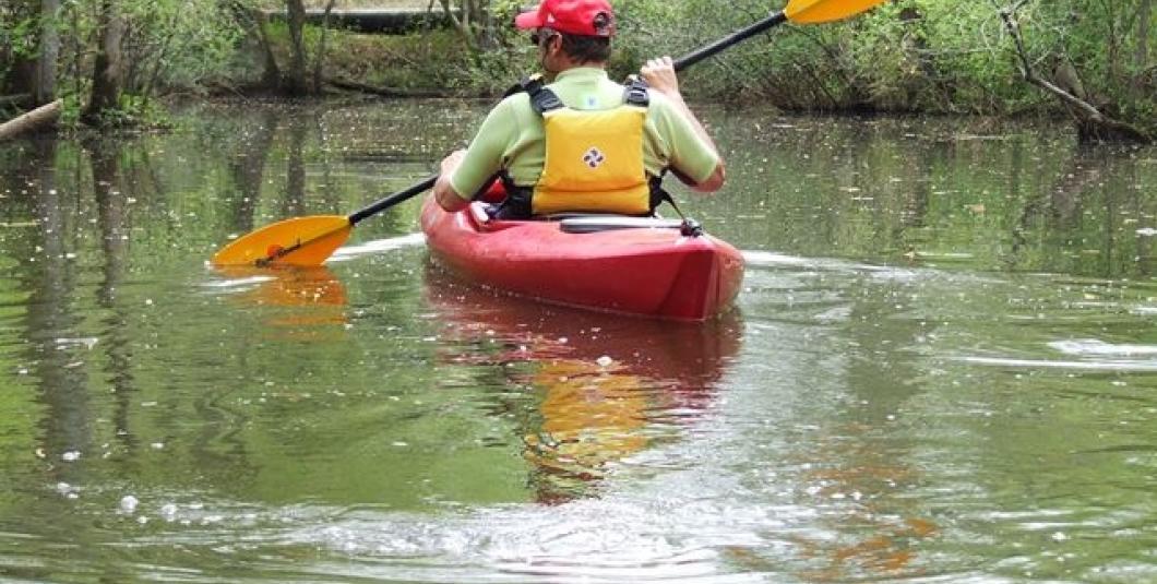 Kayaking on Powhatan Creek