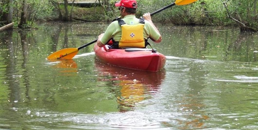 Kayaking on Powhatan Creek