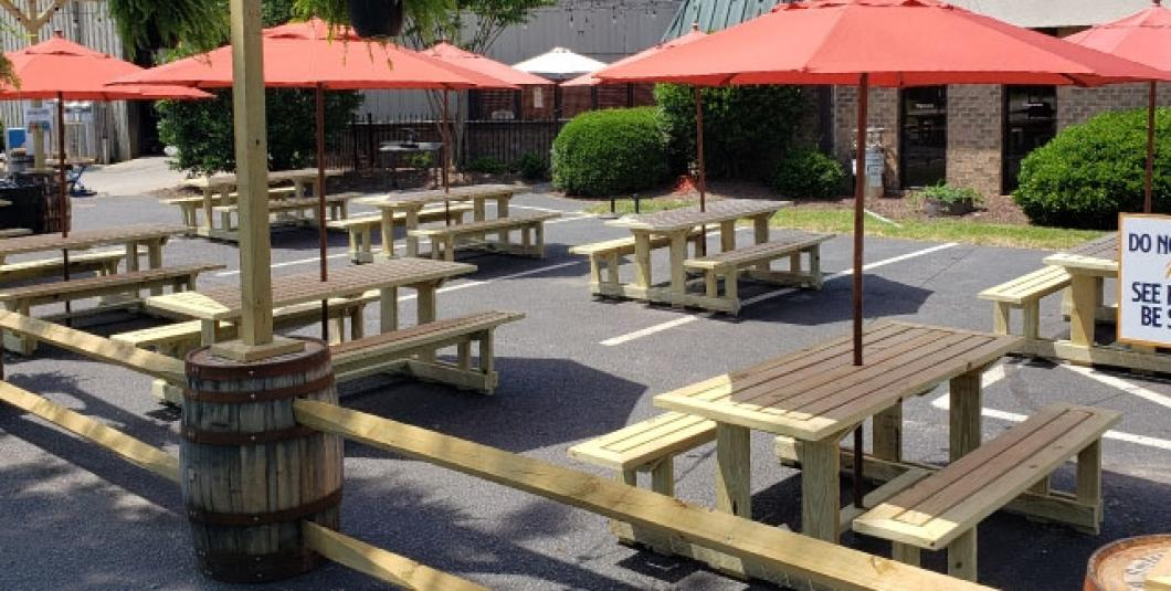 Enjoy our newly expanded beer garden!