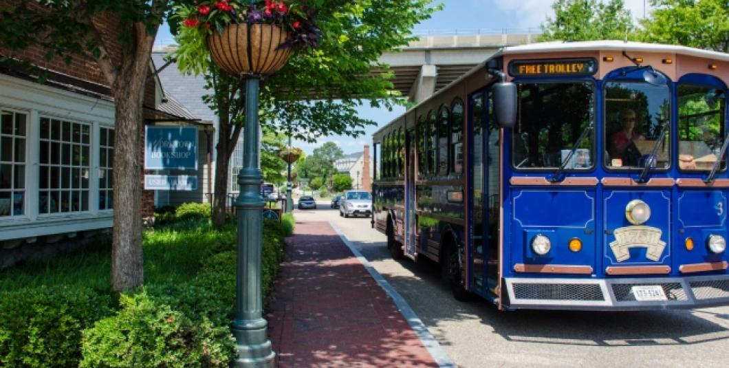 Free Trolley in Yorktown