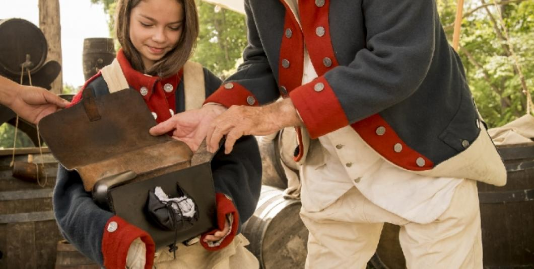 Exploring a Continental Army soldier's haversack at the American Revolution Museum at Yorktown