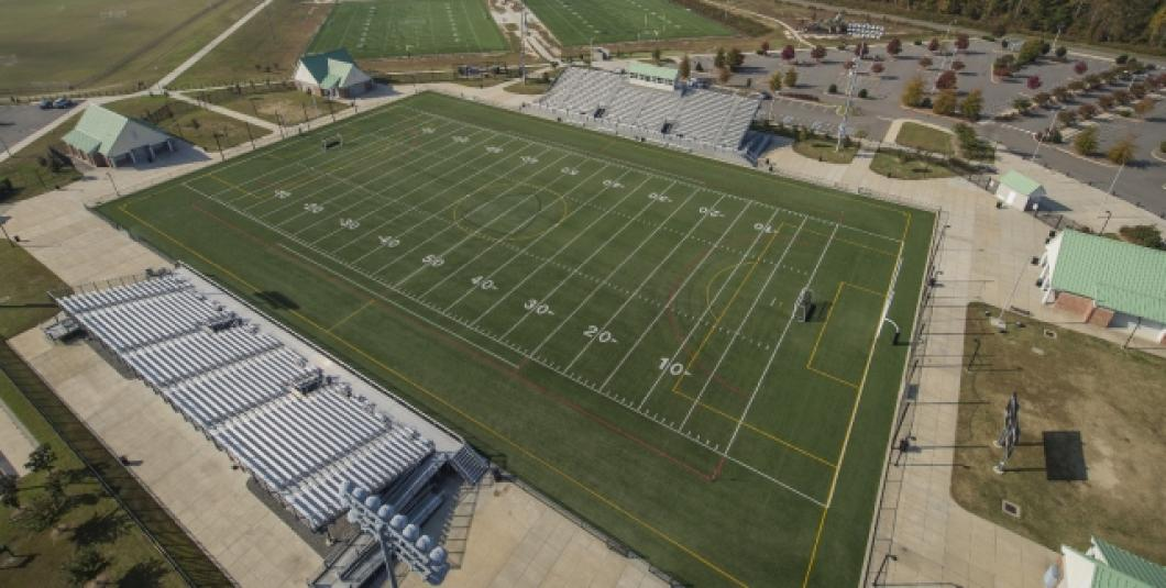 Aerial of Wanner Stadium