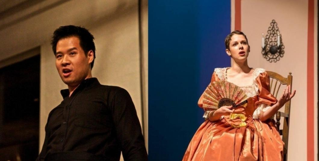 Baritone Suchan Kim and soprano Kinneret Ely