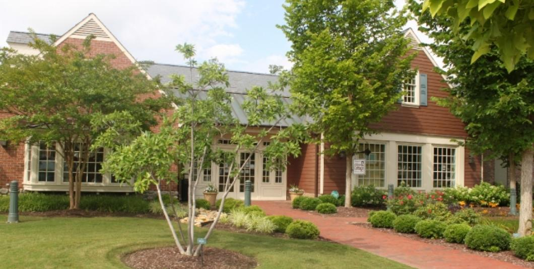 Auntie M's American Cottage is located just steps away from Yorktown's free parking garage, next to Ben & Jerry's.