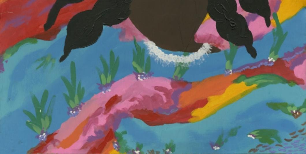A work by professional folk artist and storyteller Mendel Williams