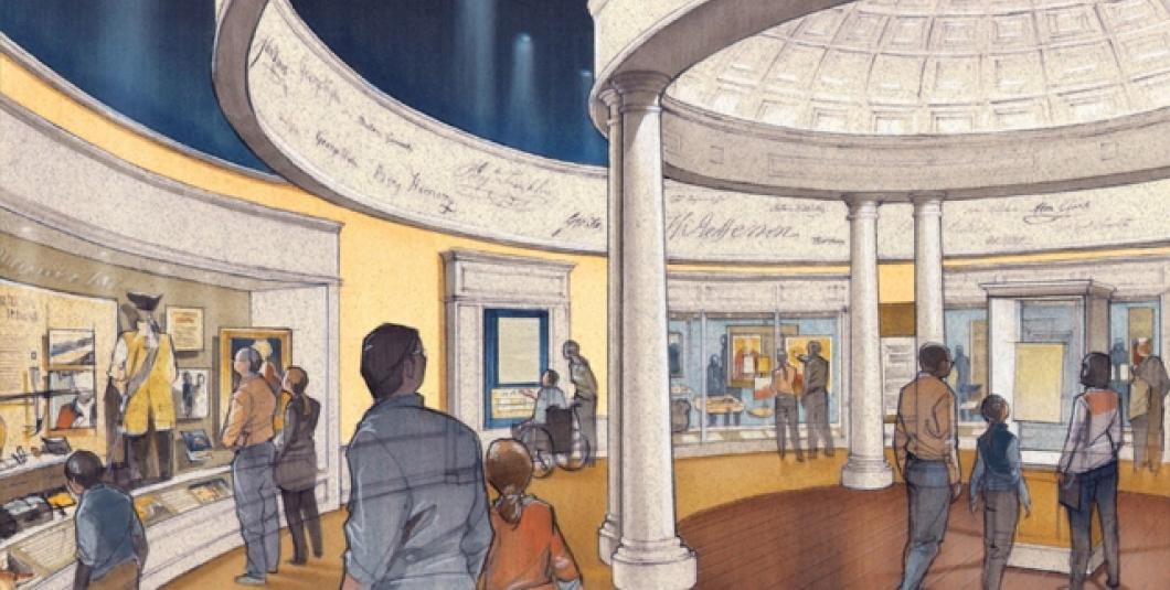 Exhibition galleries and film debut mid-October at the American Revolution Museum at Yorktown.