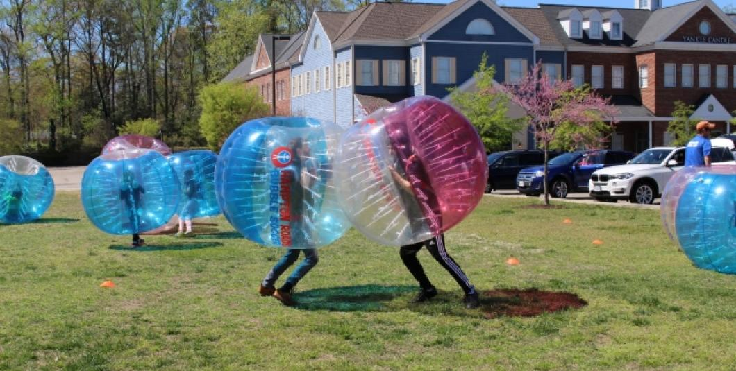 Hampton Roads Combat Sports will be offering bubble soccer & hover ball archery on April, 8th.