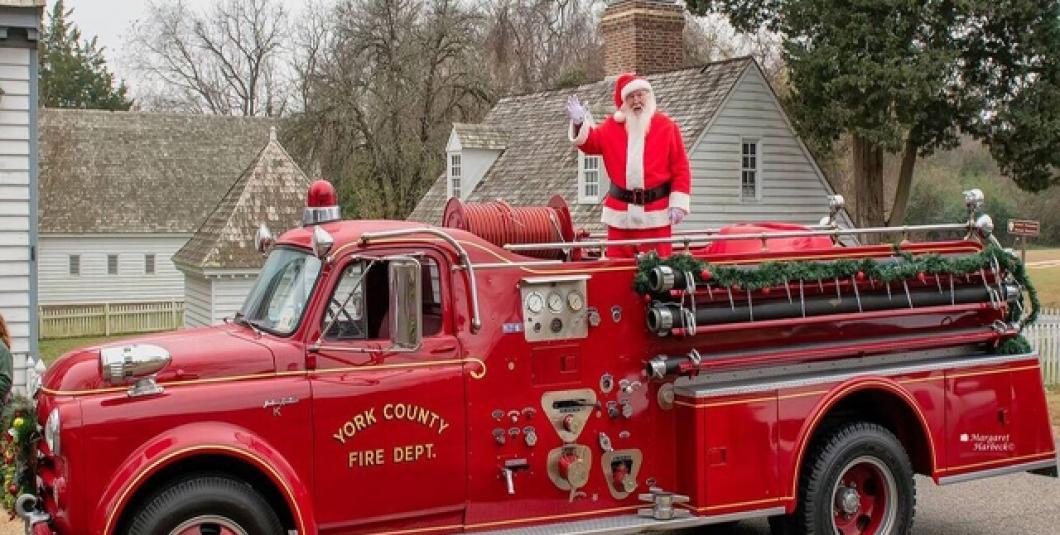 Here comes Santa!