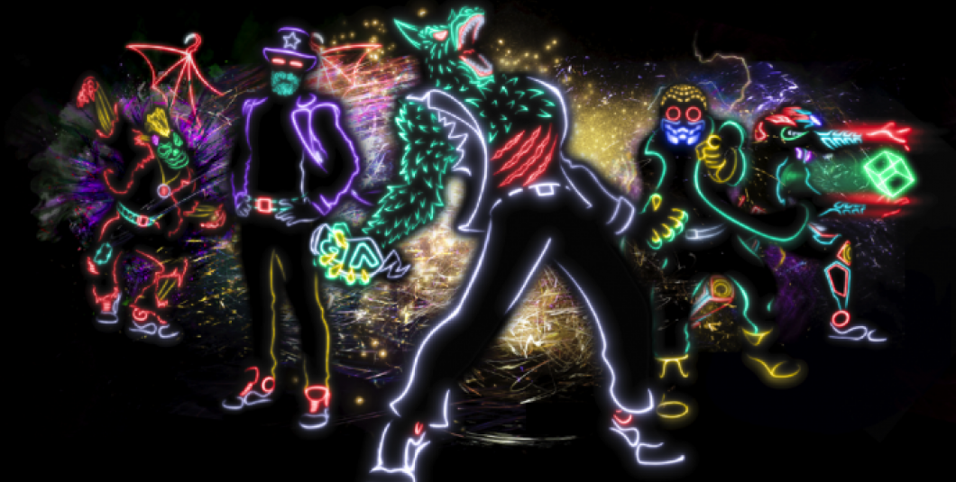 "Light Balance, a neon dance troupe, popularized by its appearance on NBC-TV's ""America's Got Talent,"" is on tap to perform five shows nightly July 6 – 8 in the park's Abbey Stone Theatre."