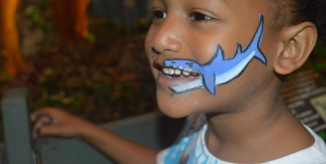 Shark Face Painting