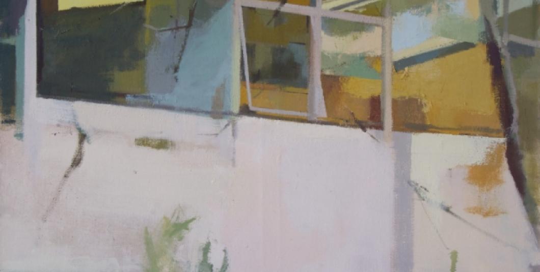 Quadrant Panes, 2017 Oil on Canvas 48 × 48 × 1 in; 121.9 × 121.9 × 2.5 cm