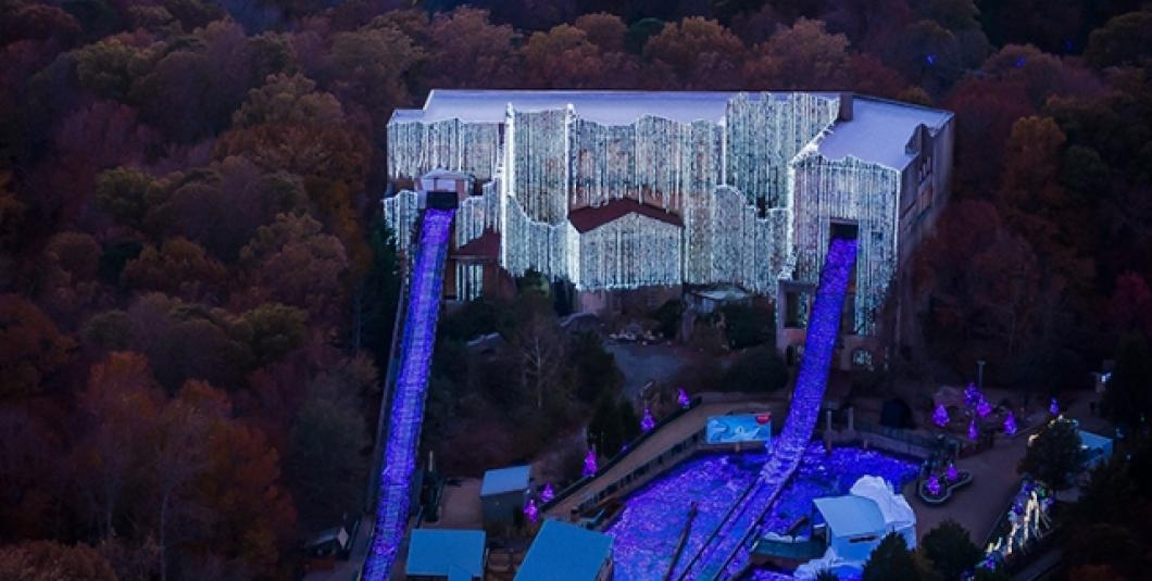 Christmas Town at Busch Gardens celebrates 10 years with 1o milliion lights.