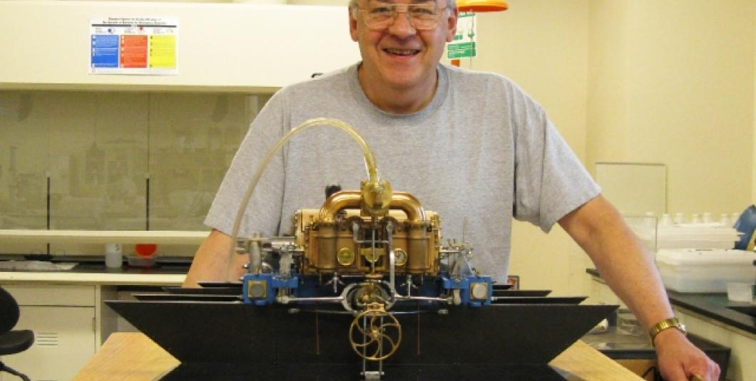 Rich Carlstedt and the ultimate USS Monitor steam engine model