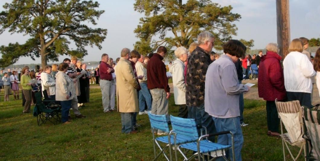 Easter Sunrise Service on Jamestown Island