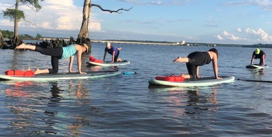 SUP Pilates on the James River