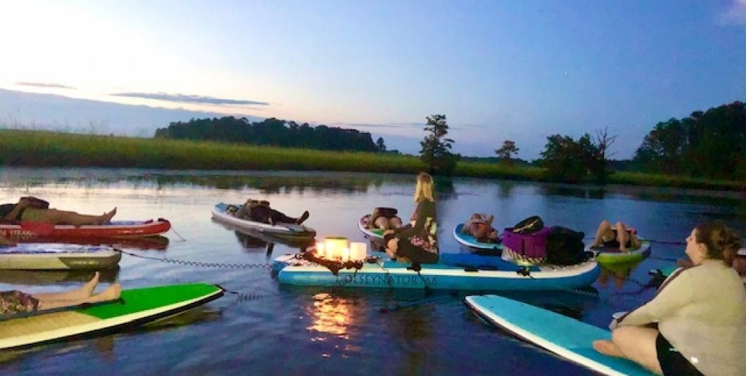 Sunset SUP Yoga & Meditation on Gordon's Creek