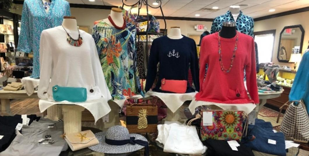 The Mole Hole offers unique clothing items with coordinating accessories.