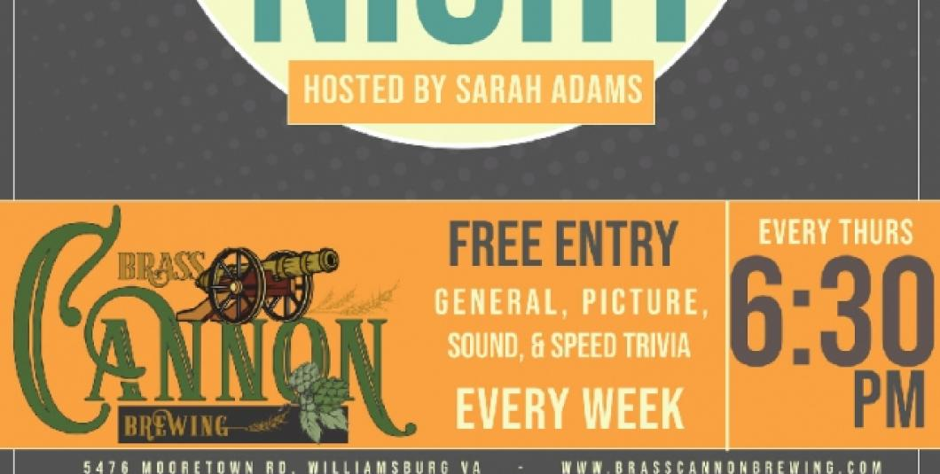 Trivia Night at Brass Cannon Brewing Co.