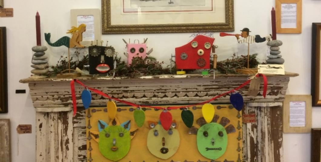 Fun and funky mix with traditional at Colonial Folk Art Studio & Gallery