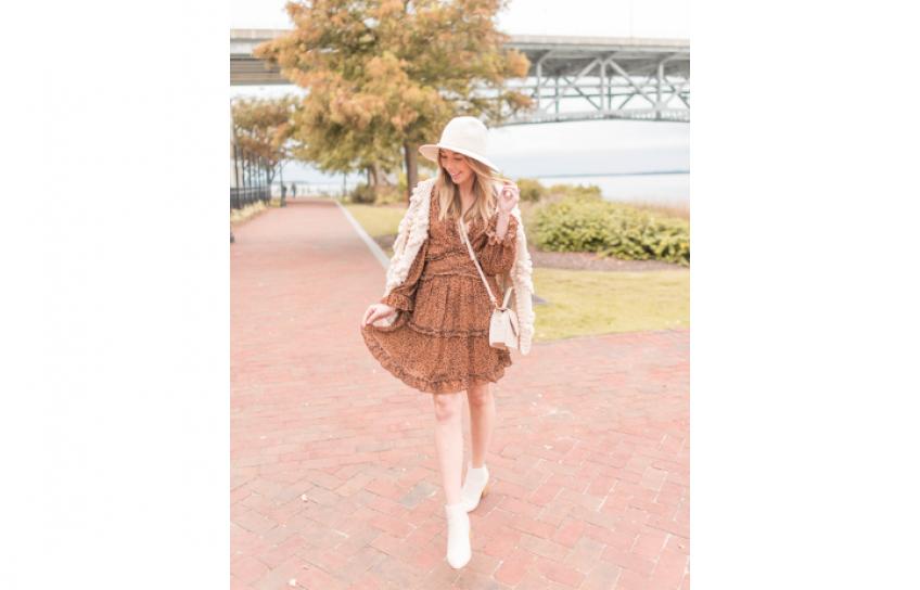 Anna Walking Around Williamsburg