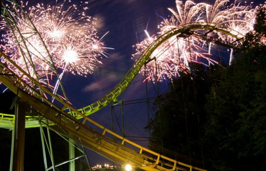 Fireworks over Busch Gardens
