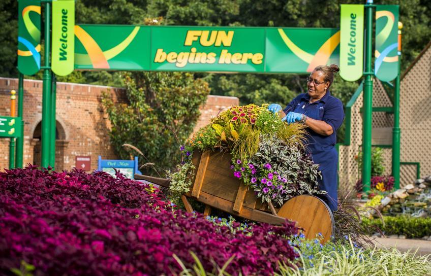 Garden at Busch Gardens Williamsburg
