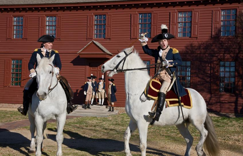 A re-enactment at Colonial Williamsburg