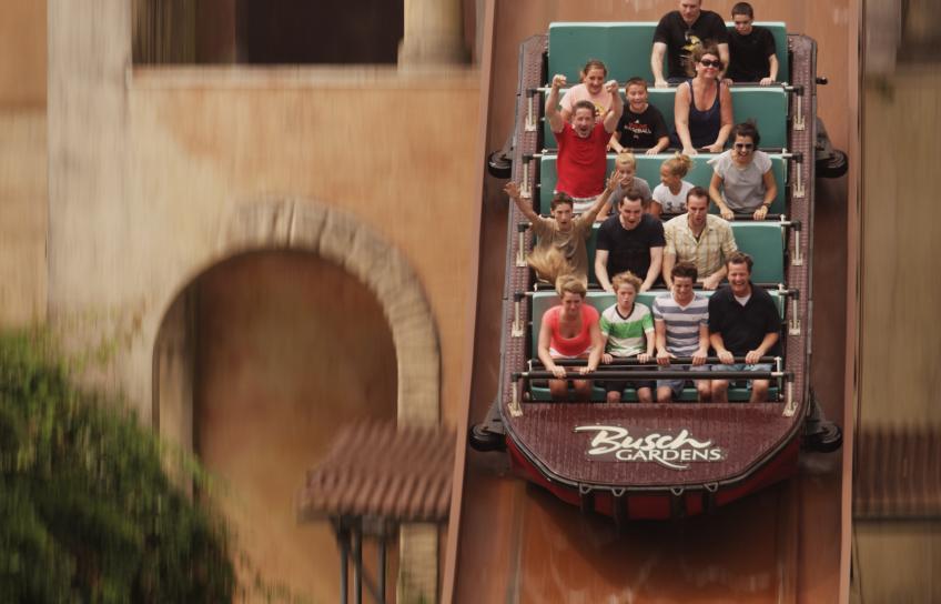 Escape from Pompeii water ride at Busch Gardens