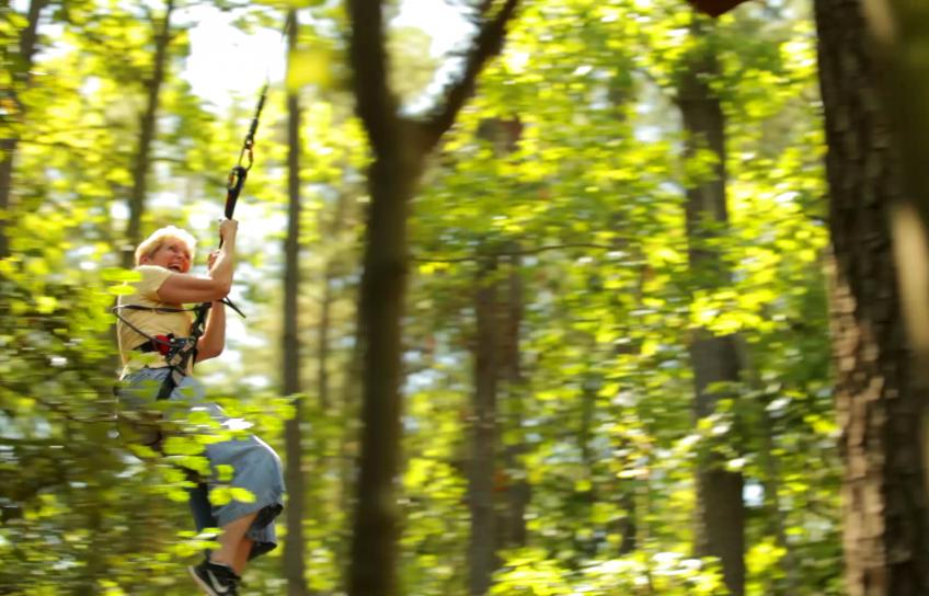 Ziplining with Go Ape