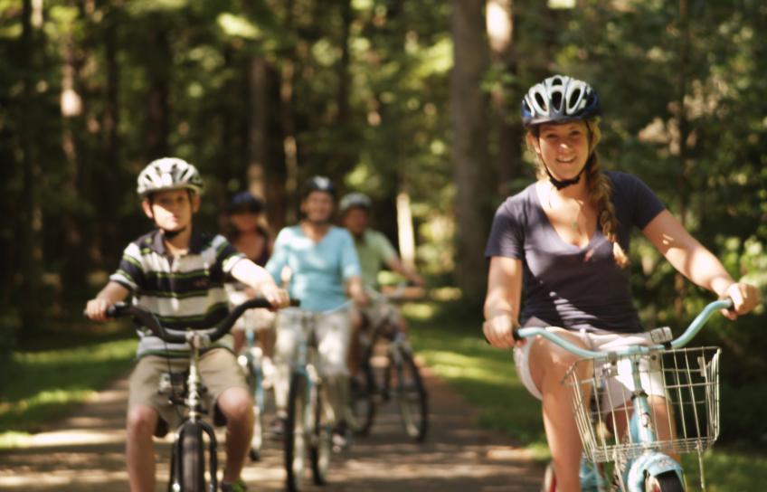 Biking at Yorktown Battlefield