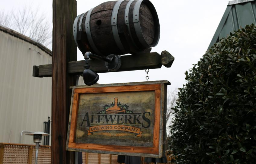 Alewerks Brewing Company sign