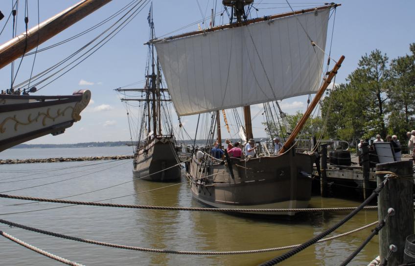 Ships at Jamestown Settlement