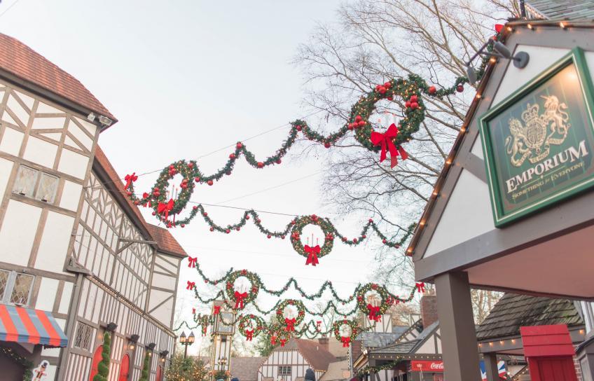 Christmas Wreaths at Busch Gardens