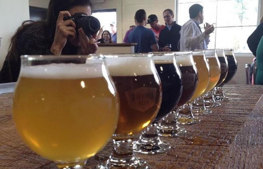 A tasting at Virginia Beer Company