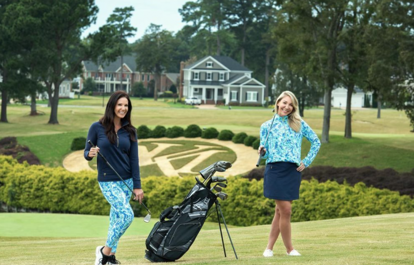 Three Cabanas Clothes Modeled on Golf Course