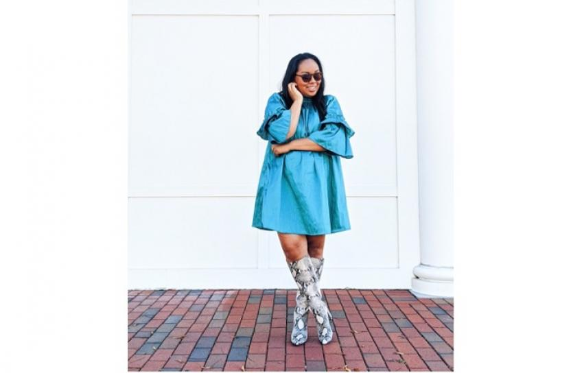 Tabitha Sewer Blue Dress