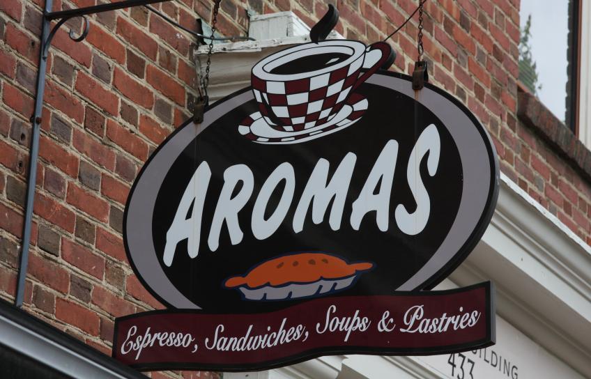 Aromas sign