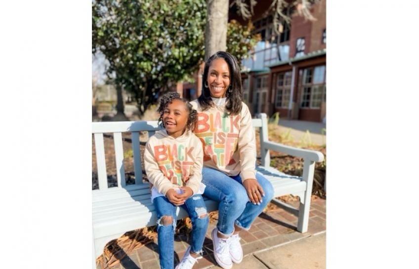 Ashley and Daughter Black History Month Sweatshirts